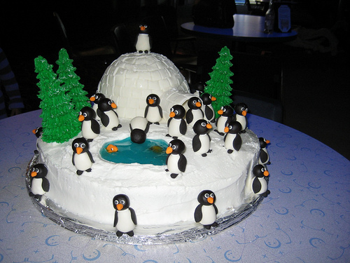 Penguins Pictures in Antarctica Penguins in Antarctica Cake