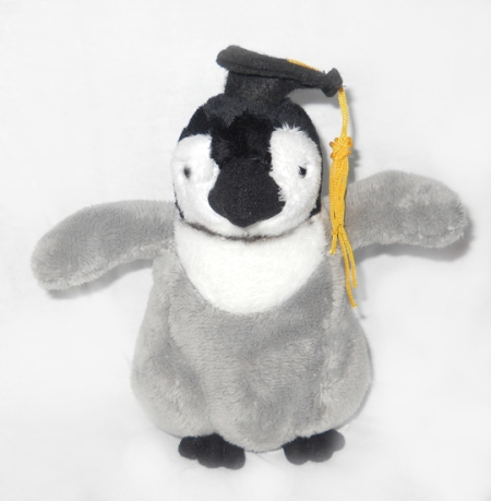 Our penguin plush graduate comes in 3 sizes!