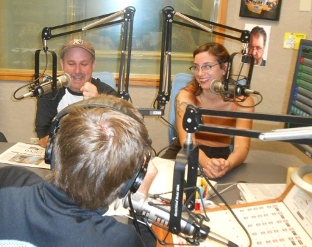 Eric and Liz on WHMP morning show talking about Noodles & Albie